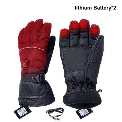 USB Electric Heated Gloves 3.7V 4000 MAh Rechargeable Battery Powered Hand Warmer For Hunting Fishing Skiing Motorcycle Cycling