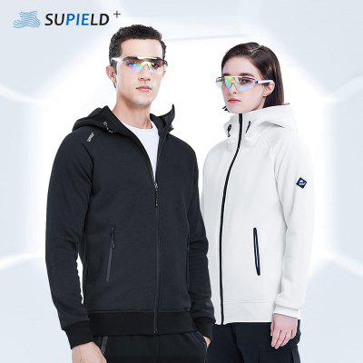 SUPIELD Hydrophobic Anti-fouling Velvet Hoodies Sweatshirt Unisex Men Women Winter Clothes Streetwear Long Sleeve With Zipper