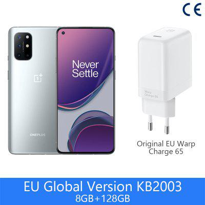 Global Version OnePlus 8T 8 T 8GB 128GB OnePlus Official Store Snapdragon 865 5G Smartphone 120Hz AMOLED Fluid Screen 48MP 65W0