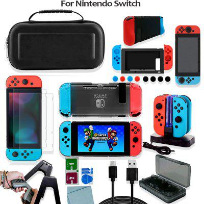 Game Accessories Set For Nintend Switch Travel Carrying Bag Joycon Protective Cover Charging Dock Screen Protector Case Card Box
