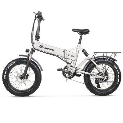 Electric Bike 500W City Folding  Bicycle Mountain 20 inch 4.0 Fat Tire Ebike 48V Lithium Battery