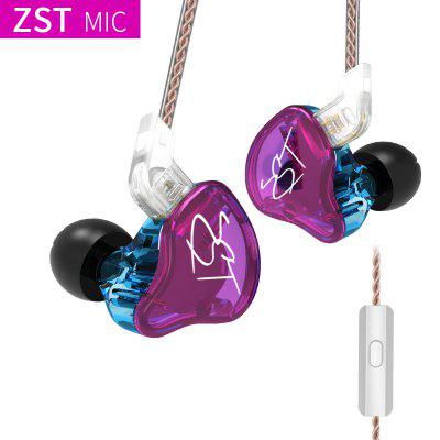 Фото - KZ ZST 1BA 1DD In Ear Earphone Hybrid Headset HIFI Music Sports Earbuds Noise Cancelling Earbuds Replaced Cable ZSN PRO ES4 ZS10 abortion in asia local dilemmas global politics