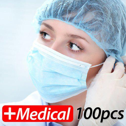 ghfgh 100pc breathable gauze disposable face masks