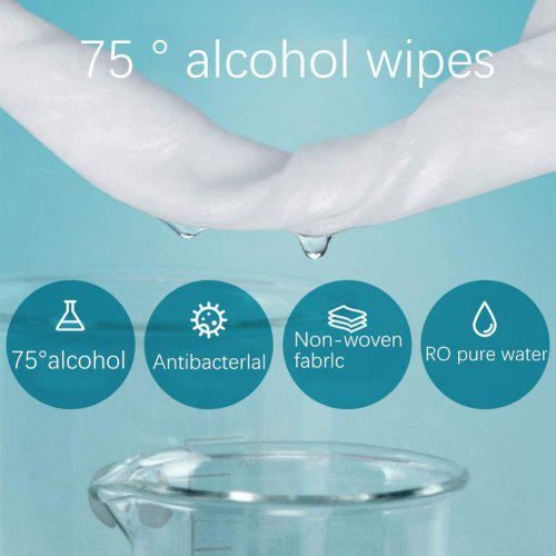 Alcohol Wipes Disinfection Sterilization Portable 50 Wipes  Cleaning Home