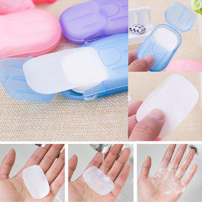 Portable Mini Travel Soap Paper Washing Hand Bath Clean Scented Slice Sheets Disposable Box Soap