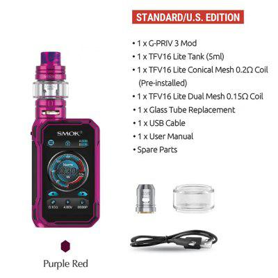 SMOK 230W G-PRIV 3 Touch Screen Mod 5ML TFV16 Lite Tank Electronic Cigarette Vape KIT Vaporizer