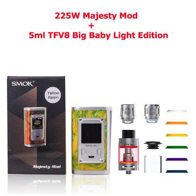 SMOK 225W Majesty Vape Mod with 5ml TFV8 Big Baby Tank Q2 T8 Coil Electronic Cigarette Kit Vaporizer