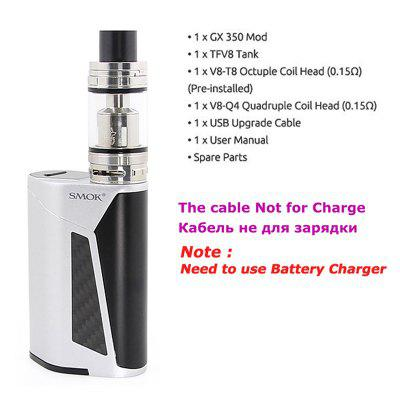 SMOK GX350 Kit 350W Huge Power Vaporizer Electronic Cigarette Vape Kit  Box MOD 6ml TFV8 Tank