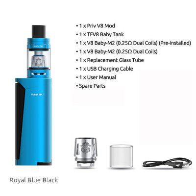 Original 60W SMOK Priv V8 Kit With 3ml TFV8 Baby Tank Electronic Cigarette Vape Kit Vaporizer