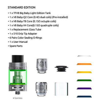 SMOK TFV8 Big Baby Light Edition 5ml Atomizer V8 Baby Q2 T8 X4 Coil Electronic Cigarette Vaporizer