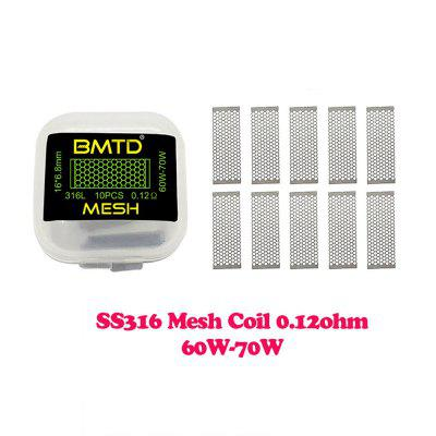 10Pcs BMTD Mesh Style Coils A1 0.13Ohm S316 0.12Ohm Ni80 0.16Ohm Heating Coil Wire for Wotofo RDA