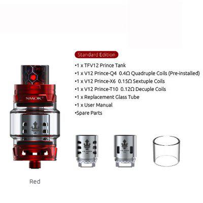 SMOK TFV12 Prince Tank 8ml Capacity Atomizer For 510 Box Mod Electronic Cigarette Vaporizer