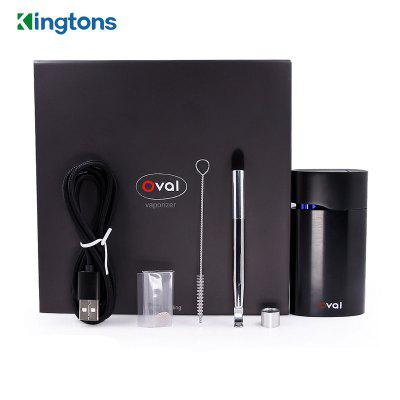 Kingtons Oval Vaporizer Dry Herb Wax 1600mah Lithium Battery Vape Pen Box Vapor E Cigarette