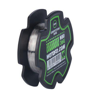 Wotofo RDA RTA DIY Coil Ni80 Competition Wire 300 Feet 36GA Heating Coils Wire For Vape Tank