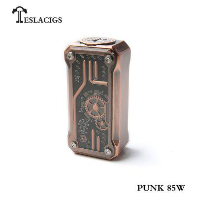 Teslacigs Tesla Punk Mini 85W Box Mod Steam Punk Style 510 Thread TC TCR Screen Vape Mod 18650