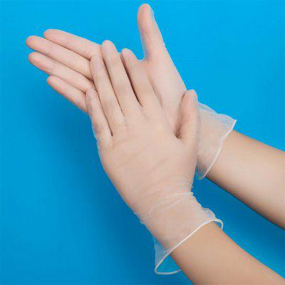 100PCS Disposable Gloves PVC Transparent Food Prep Safe Gloves for Cooking Kitchen Cleaning Gloves