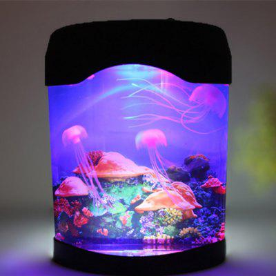 Ocean Decor Electric Jellyfish Tank Aquarium Mood Night Light with Color USB Electric Lamp