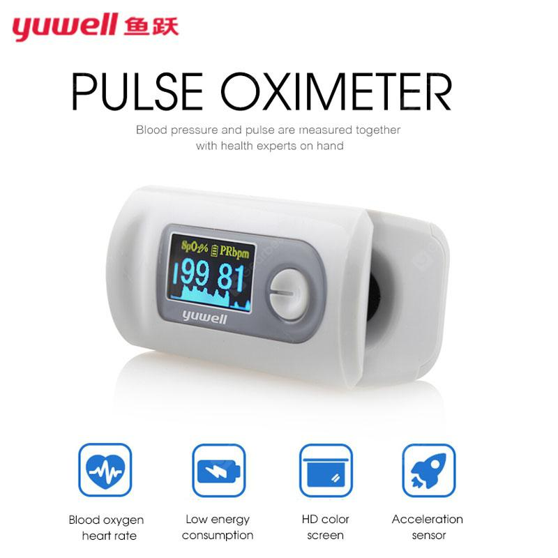 yuwell YX301 Fingertip Pulse Oximeter Blood Monitor Color LED Display Portable Pulse Oximeter - China