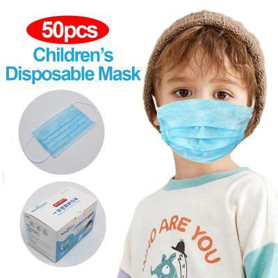 50pcs Children Disposable Protective Mask Earloops 3 Layers Anti-flu Dust-proof Easy Breathing Mask