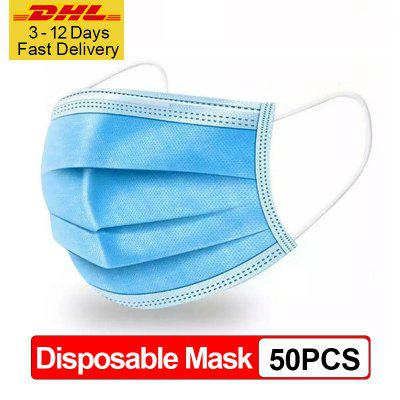 DHL Express Delivery 50pcs 100pcs Disposable Protective Mask Elastic Mouth Soft Breathable Face Mask