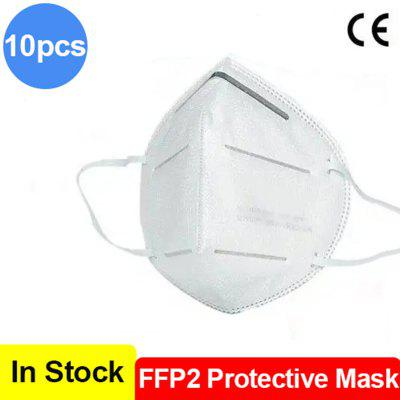 10pcs FFP2 Protective Mask with CE Certification Face Mask Dust-proof Anti PM2.5 KN95 Mask