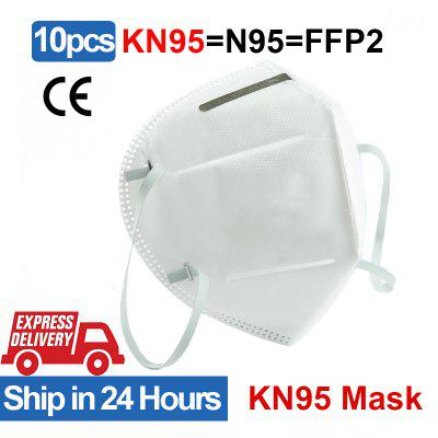 10PCS KN95 Anti Virus Face Mask Disposable Breathable Protective Masks Not Medical for Health