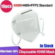 10pcs N-95-s M-a-s-k-SSS with Adjustable Nose Clip for Perfect Tight Full Face Seal Face Protector with Ear Loop Protection Effective Against Dusts
