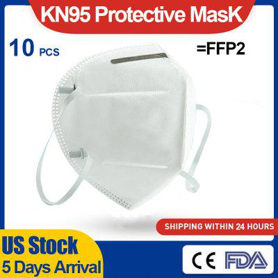 10pcs KN95 Protective Mask N95 FFP2 Dust-proof Disposable Face Mask Respirator