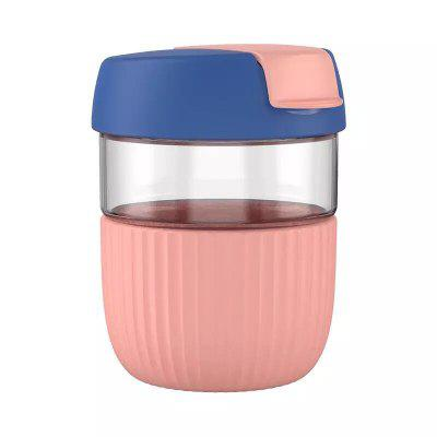 Kiss Kiss Fish Mini Rainbow Cup Student Cute Glass Simple Coffee Cup Accompanying Mug With Cover Water Bottle Women Men Cup