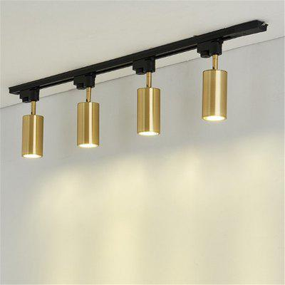 Luxury brass copper track spotlights led ceiling lamp living room wall aisle bar