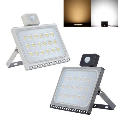 AC 220V LED Spotlight Outdoor IP65 Waterproof Ultrathin Motion Sensor Spotlight LED Flood Light