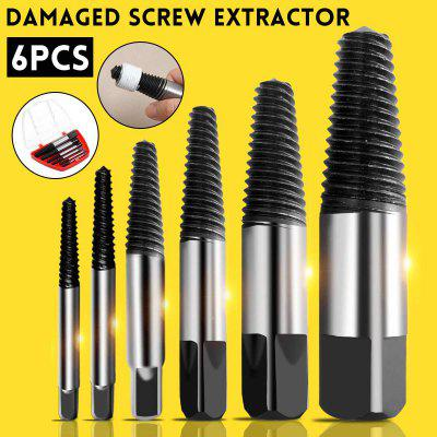 6× Damaged Screw Extractor Speed Out Drill Bits Tool Kit Broken Bolt Remover