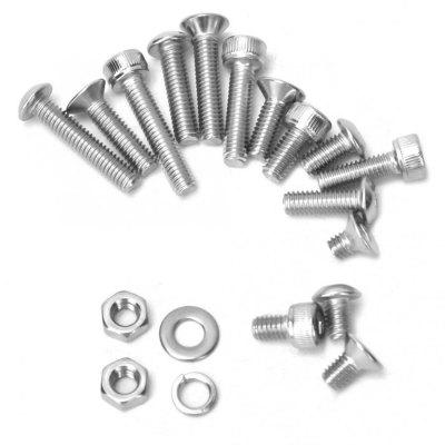 840Pcs M4 Nus Washers Pan Head Cylindrical Flat Screws 3 Type Different Kind of Screw Heads