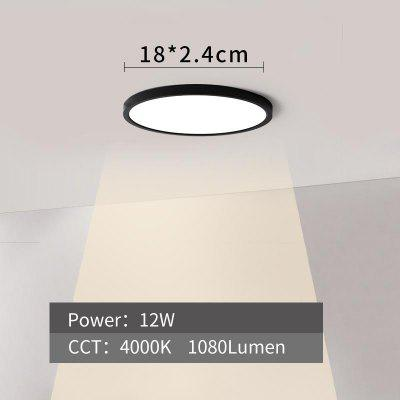 Black Kitchen Lights LED Ceiling Light Black Shell 12W Modern Surface