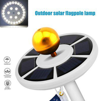 Power Flag Pole Lights Weatherproof Flagpole Downlight Auto with Solar Panel ALI88