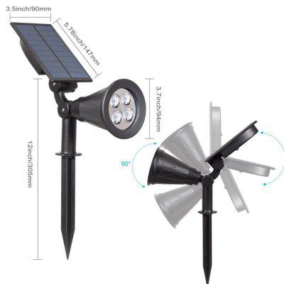 Outdoor Solar Light Angle Adjustable 4 LED Lighting