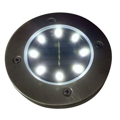 4Pcs Waterproof IP65 8 LED Solar Underground Lights Stainless Steel Solar Buried Floor Light