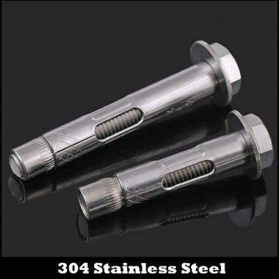 M8x100 304 Stainless Steel External Hexagon Built-in Sleeve Expansion Screw Concrete Anchor Bolt