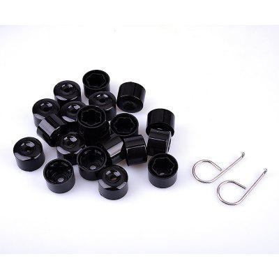 20PCS 17MM VW Chrome Nut Screw Bolt Protection Covers Caps High Quality Nut Universal