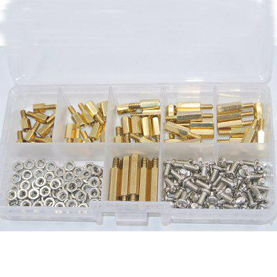 180Pcs M3 6mm Screw and Nut Brass Threaded Pillar PCB Motherboard Standoff Spacer Kit
