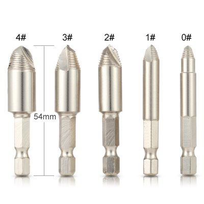 5pcs SET HSS Double Side Screw Extractor Center Drill Bits Guide Set