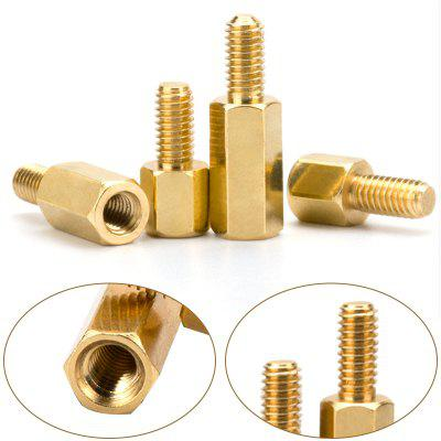200Pcs set M2.5 Hex Nut Spacing Screw Hex Brass Threaded Pillar PCB Motherboard Standoff Spacer Kit