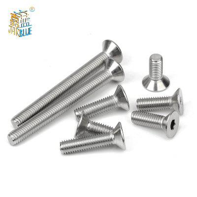 10pcs Allen Key Head Din7991 M5 304 Stainless Steel Screws or Black Hex Socket Flat Countersunk Head