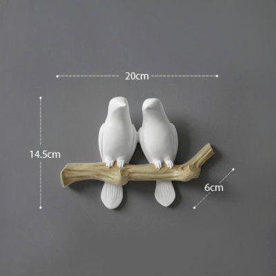 Wall Decorations Home Accessories Living Room Hanger Decorative Wall Hooks White 2 Birds