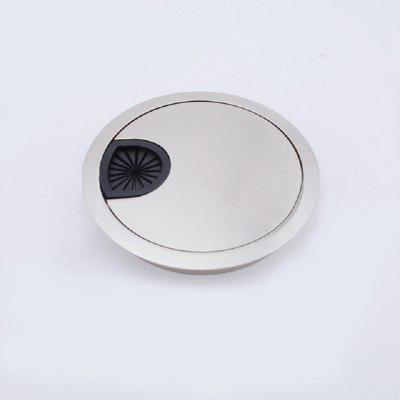 Brush Finish Zinc Alloy Desk Wire Hole Cover Base Computer Grommet Table Cable Outlet Port