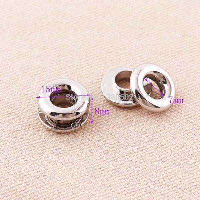 10pcs Alloy Top Quality Silver Color Grommet Eyelets Hole with Washer for Handbag Garment Bag