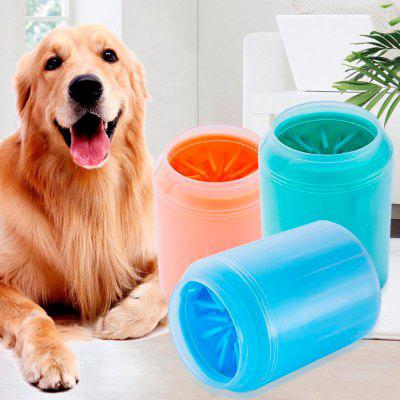 Dog Paw Cleaner Cup Soft Silicone Combs Portable Pet Foot Washer Cup Paw Clean Brush