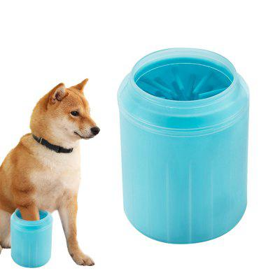 Dog Paw Cleaner Cup Soft Silicone Combs Portable Outdoor Pet Paw Washer Brush Cleaning Bucket