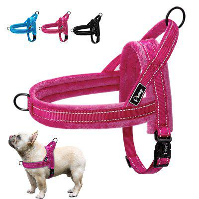 Nylon Reflective Pet Dog Harnesses Vest Soft Flannel Padded No Pull Strap Harness