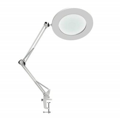 Table Lamp Metal Clamp Swing Arm Desk Lamp Stepless Dimming 3Colors 7W Magnifier LED Lamp